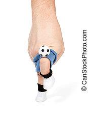Knee strike on the ball