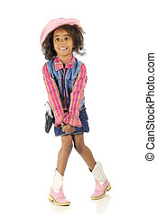 Knees Together, Toes Apart - An elementary African American...