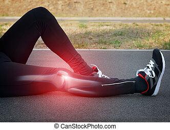knie, verletzung