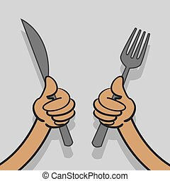 Knife and Fork Hands