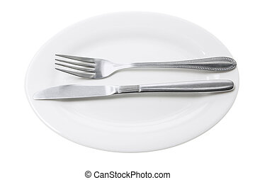 Knife and Fork on Plate