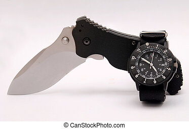 knife and watch