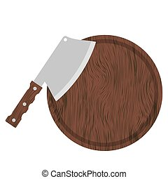 Knife and Wood Circle Board