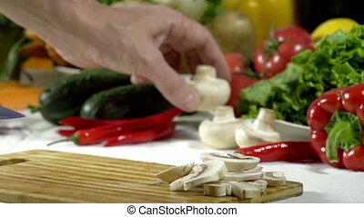 Knife Cut Mushrooms