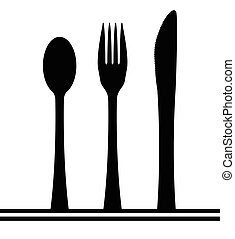 Knife Fork And Spoon Silhouette