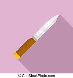 Knife icon, flat style