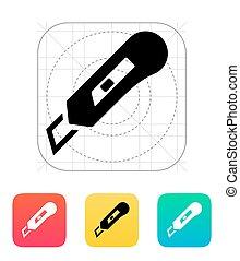 Knife icon. Vector illustration.