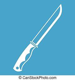 Knife icon white