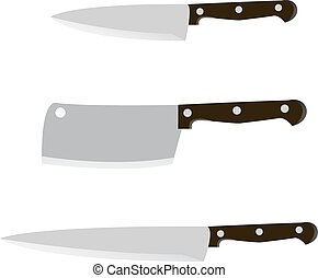 Knife on a white background. Vector