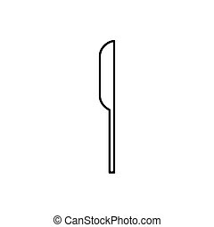 Knife outline icon isolated. Symbol, logo illustration for mobile concept and web design.