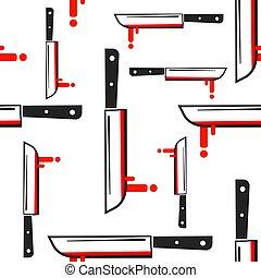 Knife Pattern, Abstract Seamless Texture Vector Art Illustration