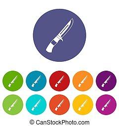 Knife set icons