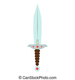 Knife vector ancient sword illustration weapon medieval dagger isolated. Old design blade