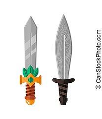 Knife weapon dangerous metallic sword vector illustration of...