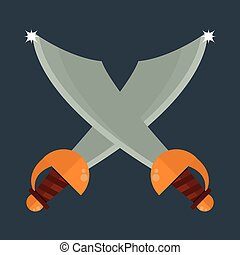 Knife weapon vector illustration.