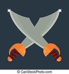 Knife weapon vector illustration.