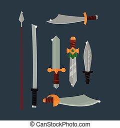 Knifes weapon illustration. - Knife weapon dangerous...
