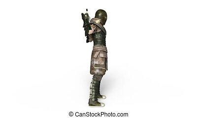 Knight - 3D CG rendering of a knight