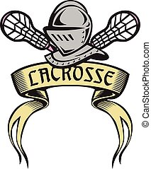 Knight Armor Lacrosse Stick Woodcut - Illustration of a...