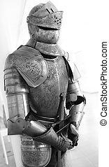 One natural old textured knight armor
