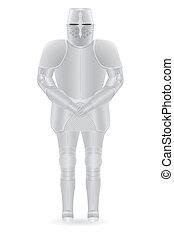 knight armor vector illustration