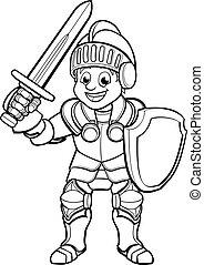 Knight Cartoon Character