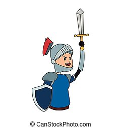 knight cartoon icon