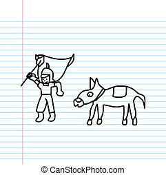 Knight cartoon sketch