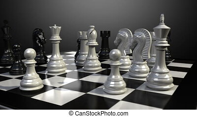 Knight chess fall down animation. - Put the Knight on a...