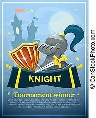 Knight concept design, vector illustration
