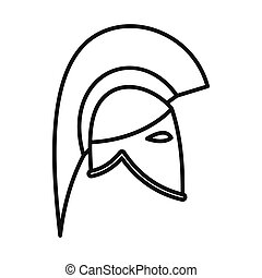 Medieval knight helmet icon, outline style. Icon in ...