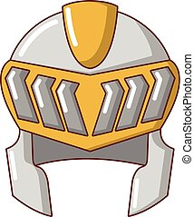 Knight helmet medieval icon, cartoon style