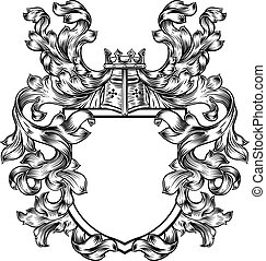 Knight Heraldic Crest Coat of Arms Shield Emblem