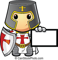 Knight Holding Card
