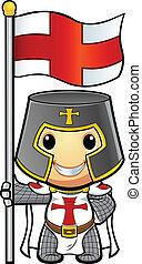 Knight Holding Flag
