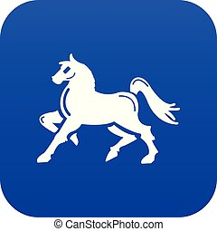 Knight horse mascot icon blue vector