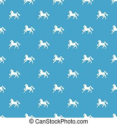 Knight horse mascot pattern vector seamless blue