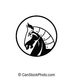 Knight horse mascot