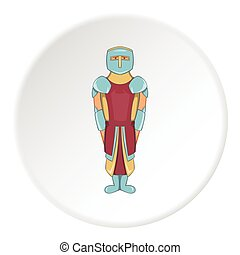 Knight icon, cartoon style