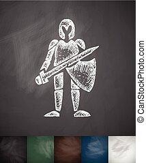 knight icon. Hand drawn illustration