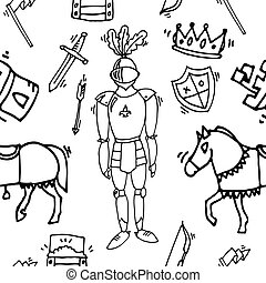 Knight icons pattern