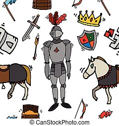 Knight icons pattern