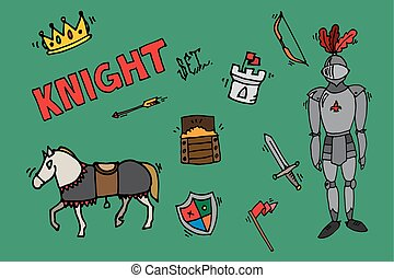 Knight icons set