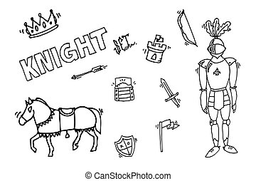 Knight icons set