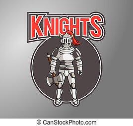 Knight Illustration design badge
