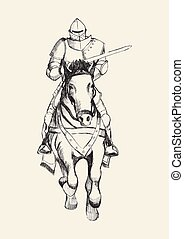 Knight Jousting Sketch