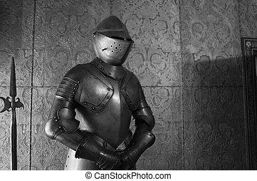 knight., középkori, felfegyverez