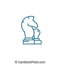 Knight linear icon concept. Knight line vector sign, symbol, illustration.
