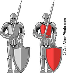 Knight metal red vector