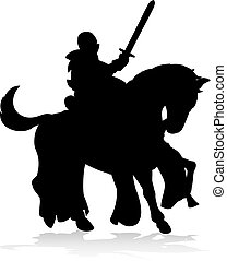 Knight on Horse Silhouette